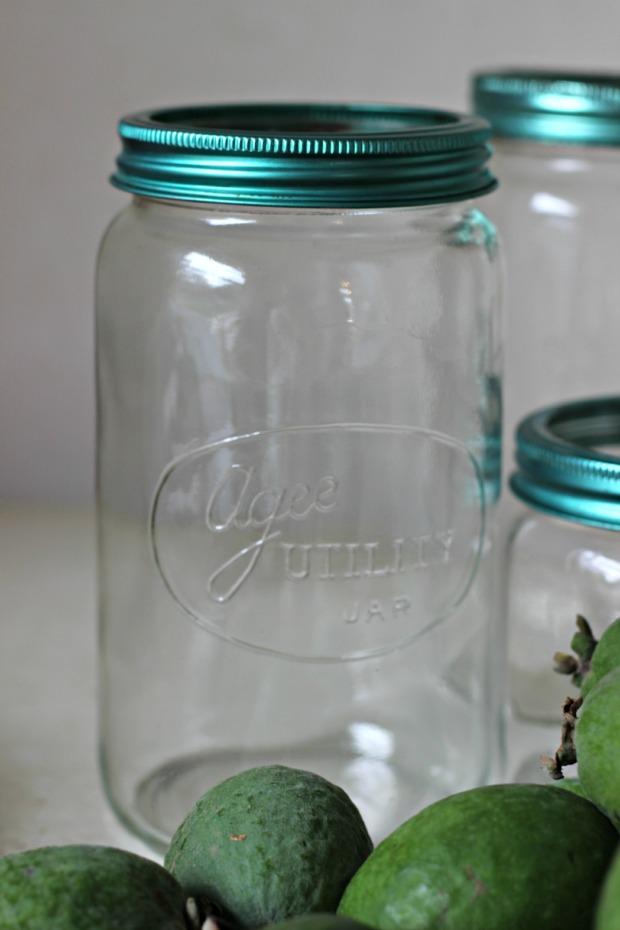 Bottling Feijoas (1)